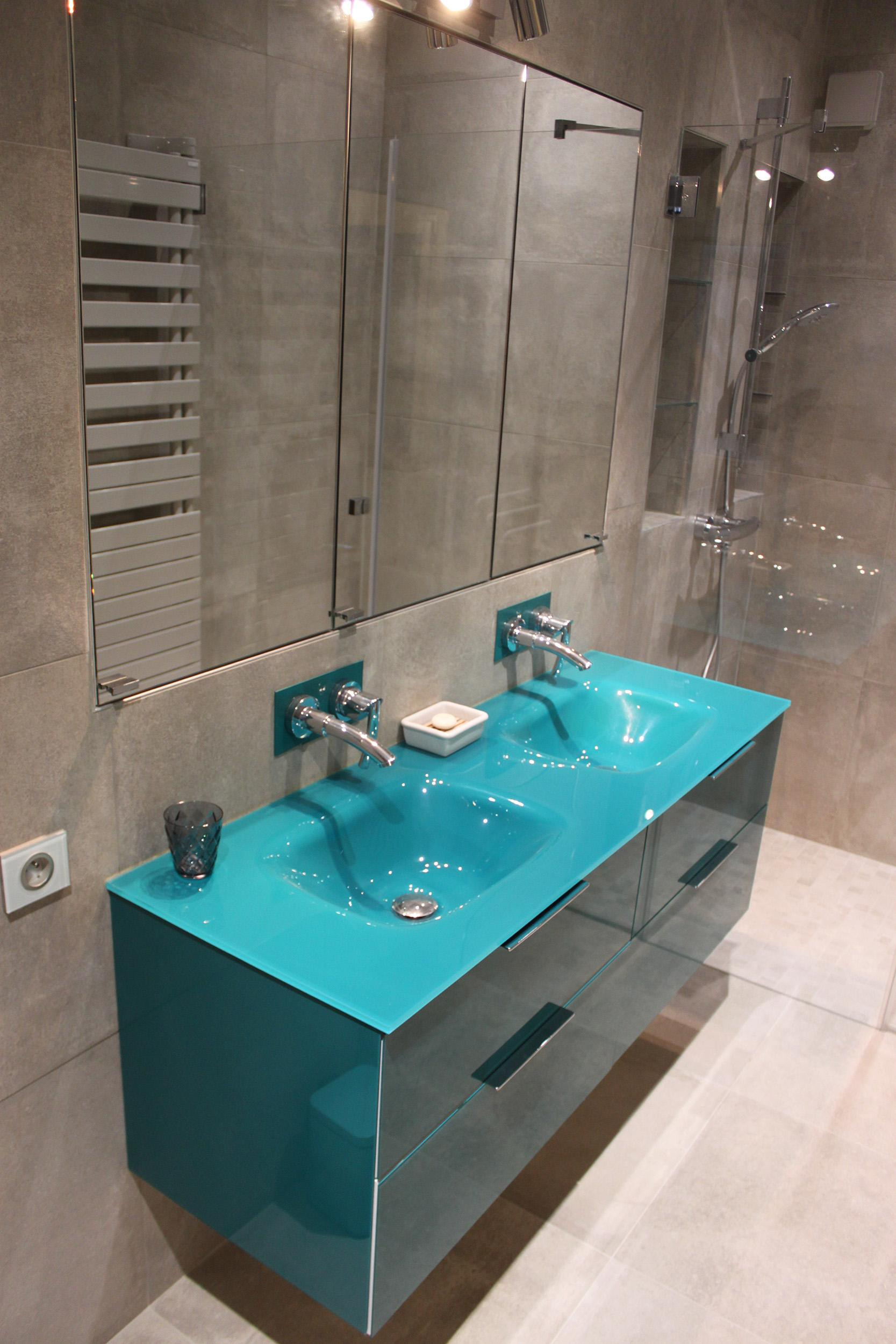 vasque en verre avec meuble elegant double vasque salle de bain en verre meuble salle de bain suspendu  weng double vasque en verre tremp with meuble salle de bain avec vasque en  verre ...